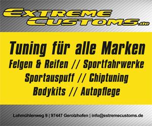 Extreme Customs Tuning für alle Marken Felgen & Reifen | Sportfahrwerke | Sportauspuff | Chiptuning | Bodykits | Autopflege