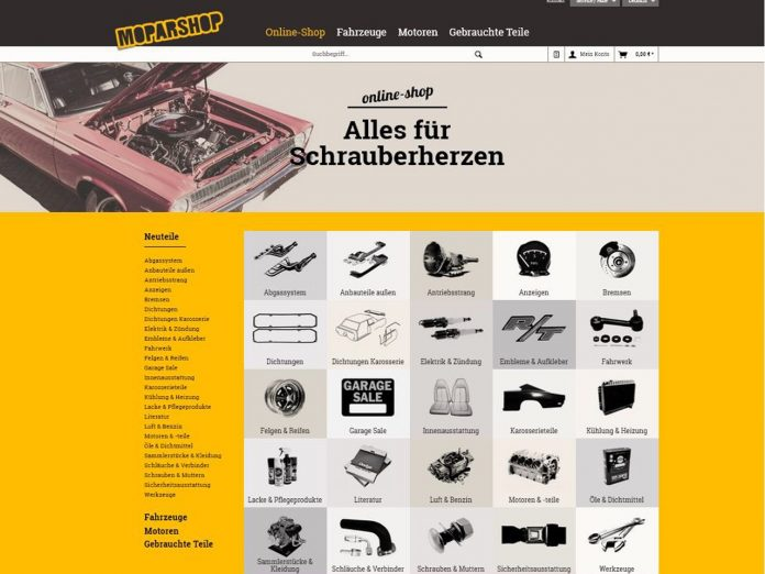 Moparshop neuer Webshop