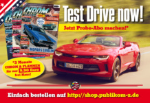 Test Drive now! Das CHROM & FLAMMEN Probe-Abo