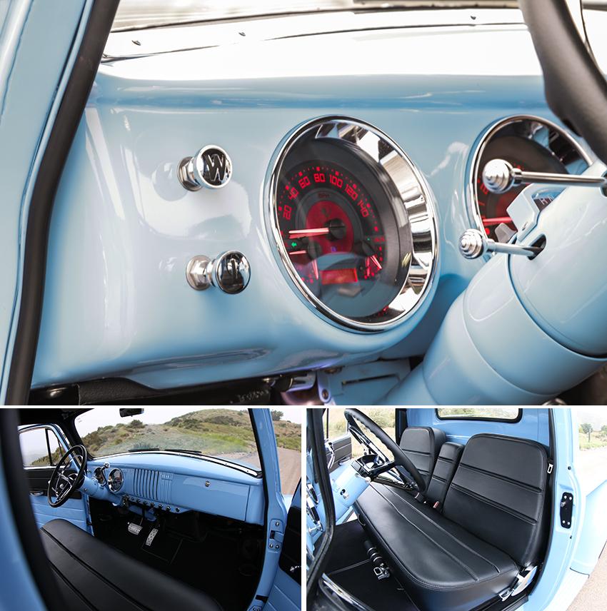 1954er Chevrolet Thriftmaster Interieur