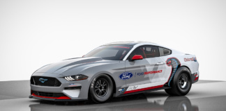Mustang Cobra - The battery-powered Mustang Cobra Jet 1400 prototype is purpose-built and projected to deliver over 1,400 horsepower and over 1,100 ft.-lbs. of instant torque to demonstrate the capabilities of an electric powertrain in one of the most demanding race environments.