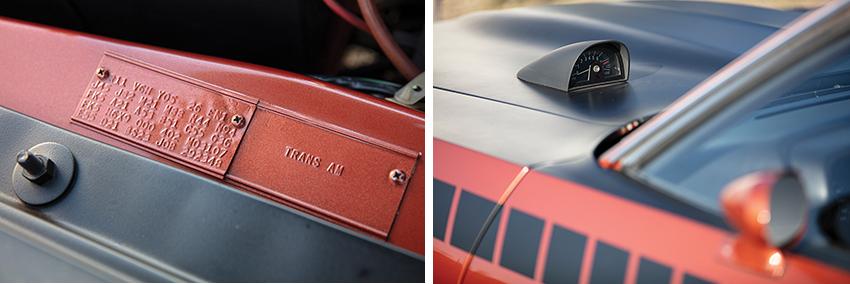 Karosserie-Details des 1970er AAR Cuda
