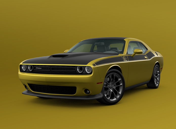 2021 Dodge Challenger T/A shown in Gold Rush exterior paint colo
